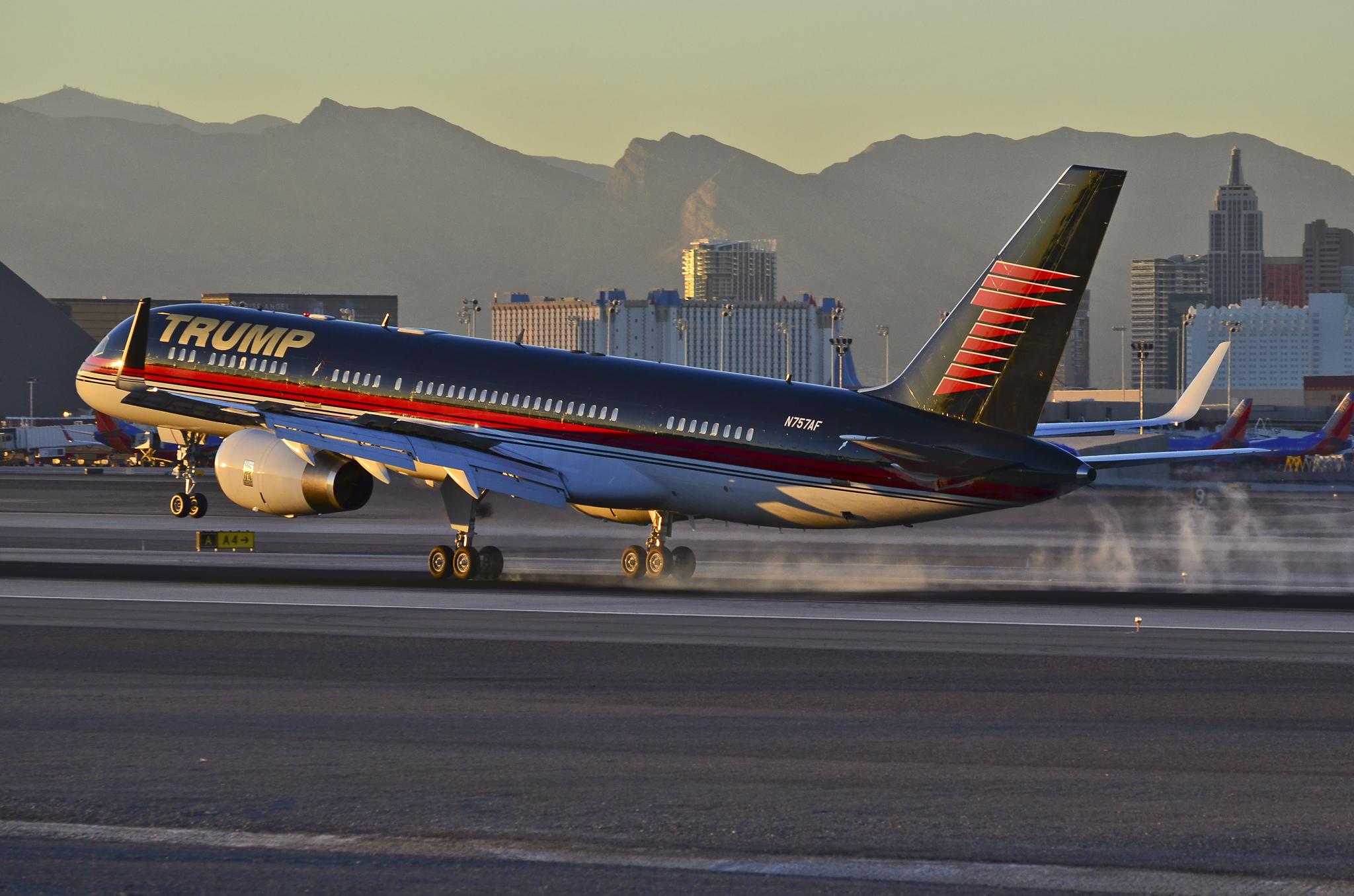 Trump Force One er en Boeing 757-200. Foto: Tomás Del Coro, CC 2.0