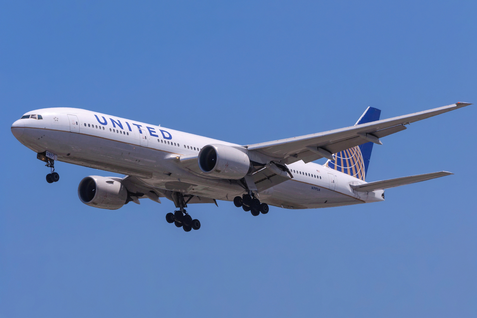 En Boeing 777-200ER fra United Airlines. Foto: Altair78, CC 2.0