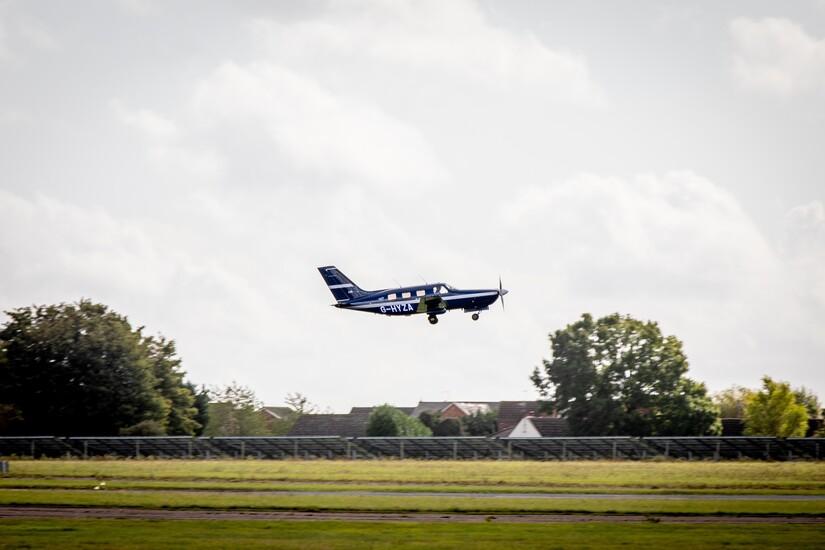 I september 2020 gennemførte ZeroAvia en succesfuld flyvning med et brintdrevet Piper M-fly. Foto: ZeroAvia/British Airways