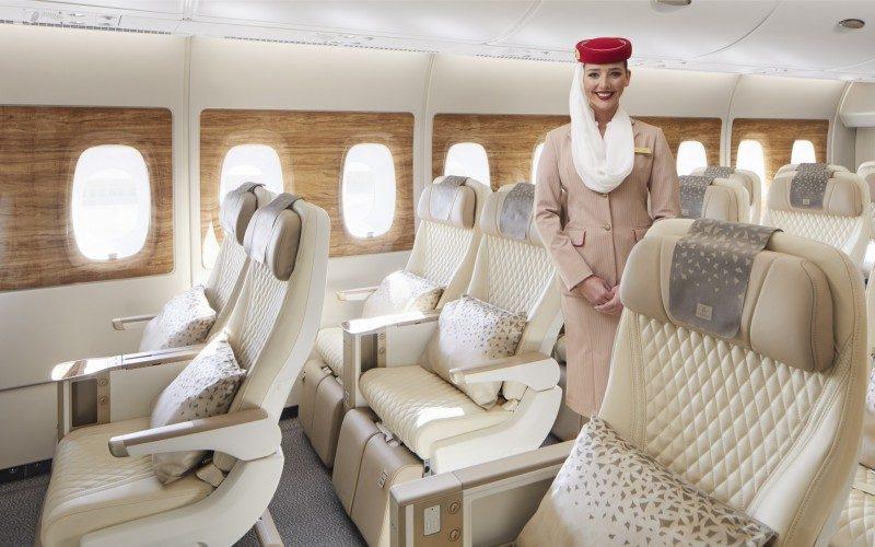 Den nye Premium Economy-kabine i en Airbus A380 fra Emirates. Foto: Emirates