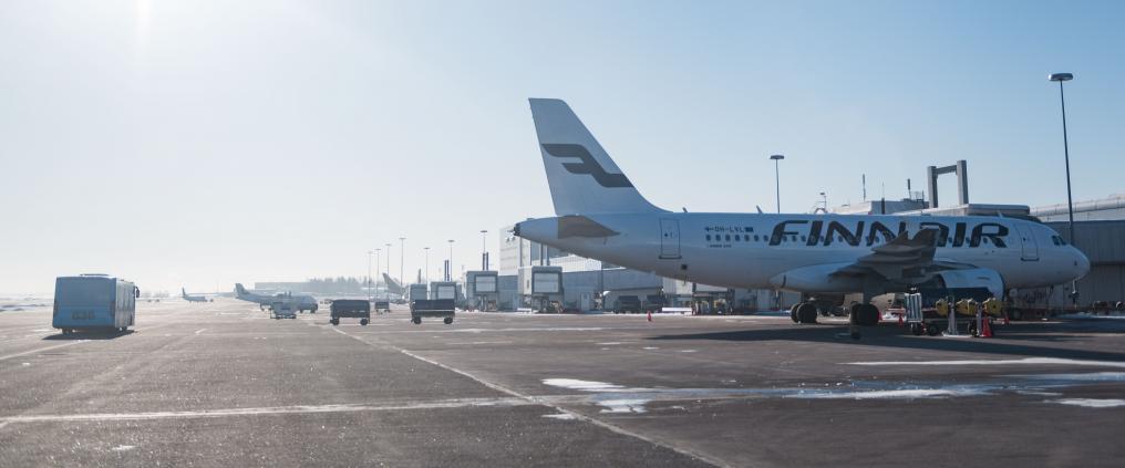 Forpladsen i Helsinki Airport. Foto: Finavia