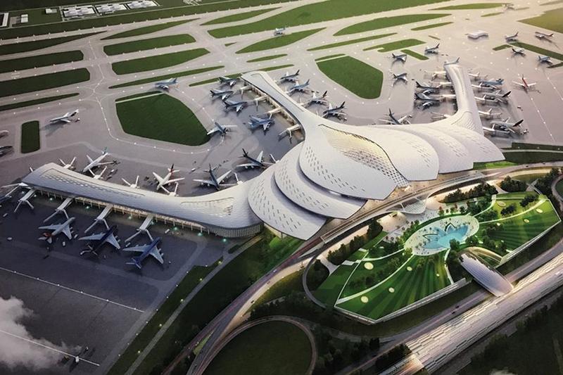 Illustration af den kommende Long Thanh International Airport ved Ho Chi Minh City i Vietnam. Foto: Vietnams transportministerium