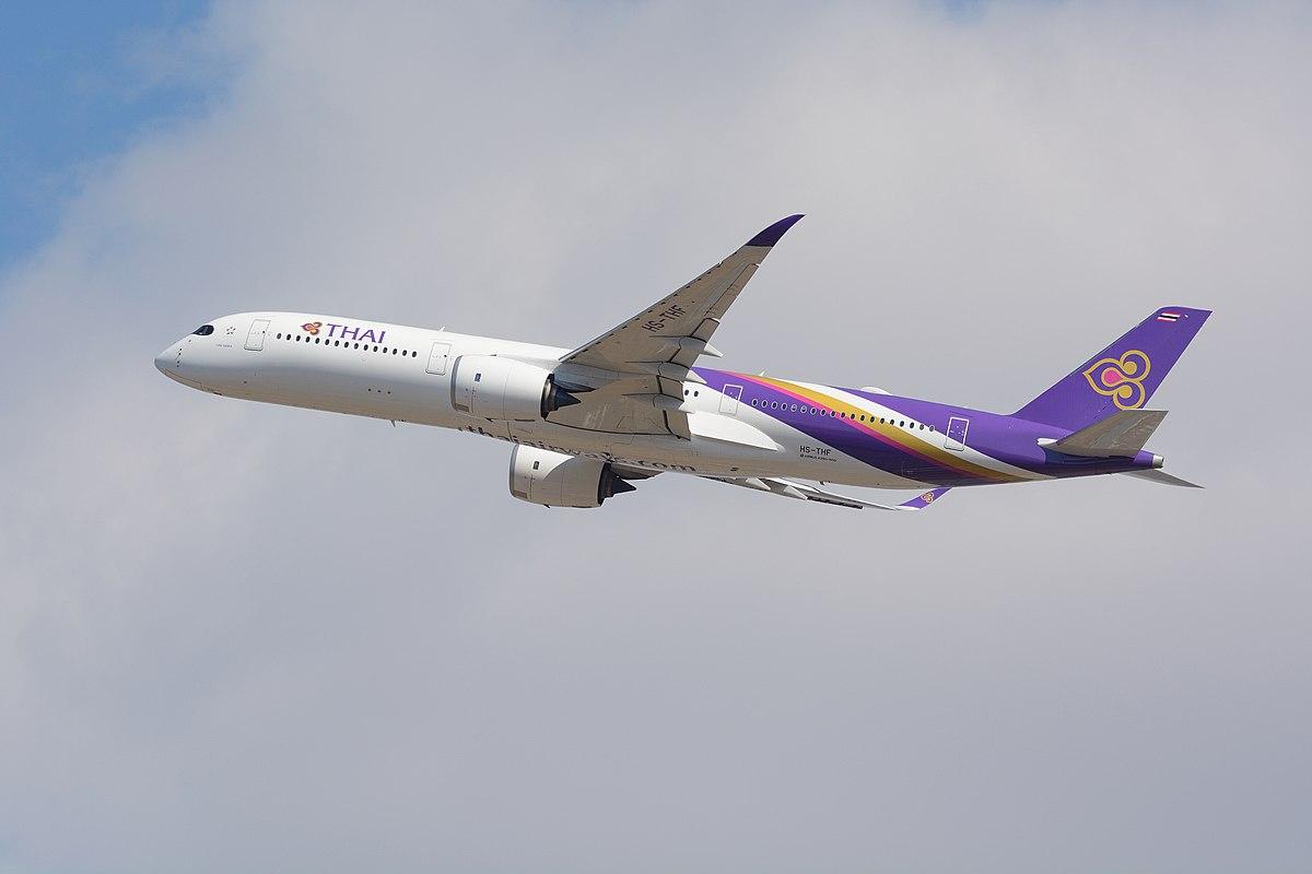 Airbus A350-900 fra Thai Airways. (Foto: Masakatsu Ukon   CC 2.0)