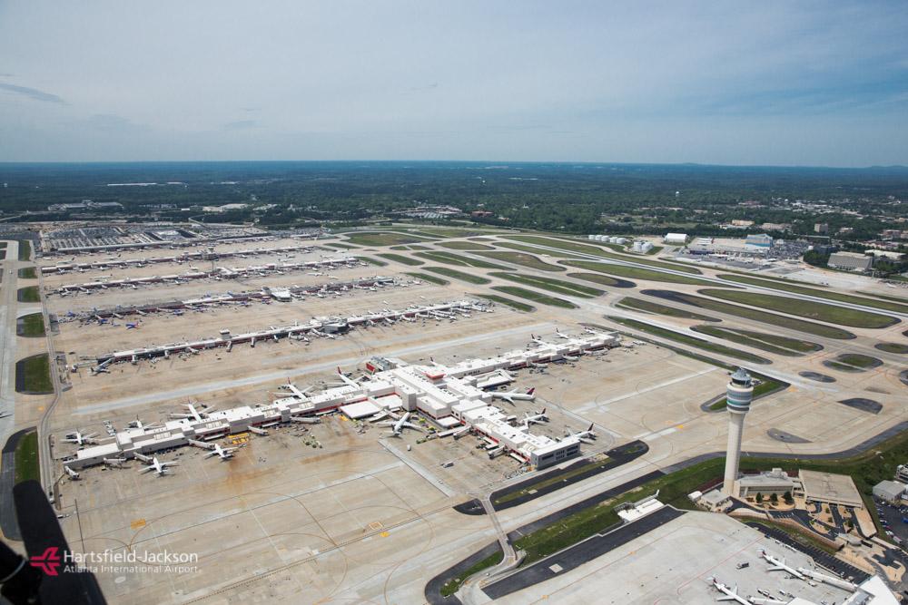 Det midterste af concourse-området i den internationale lufthavn i Atlanta, USA. Foto: Atlanta Hartsfield-Jackson International Airport