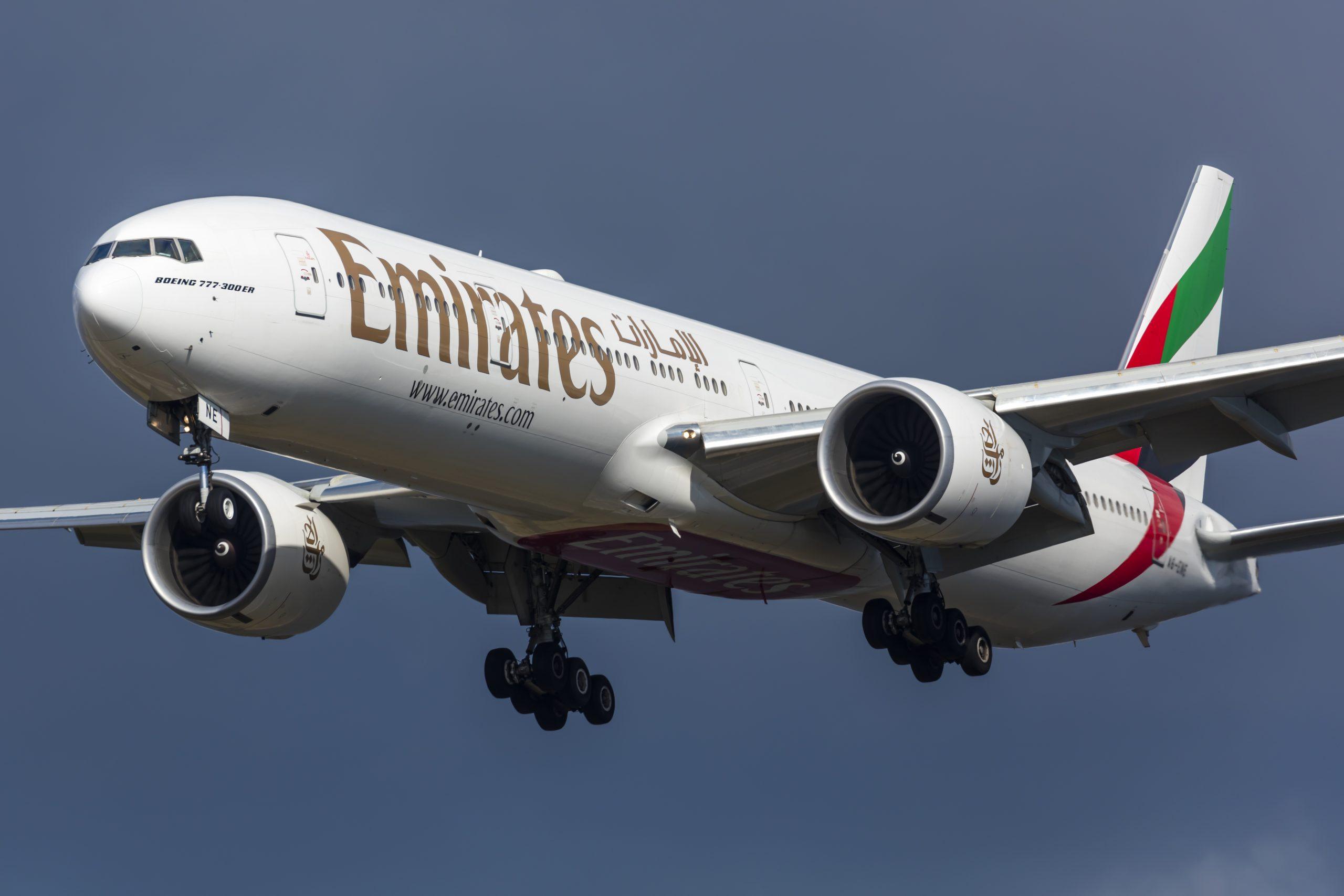 Boeing 777-300 fra Emirates under landing i Københavns Lufthavn. (Foto: © Thorbjørn Brunander Sund | Danish Aviation Photo)