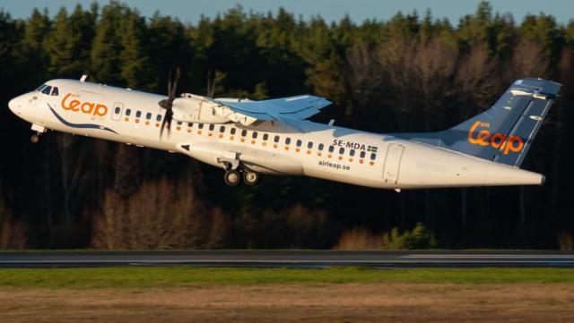 ATR 72-500 fra det svenske flyselskab Air Leap. Foto: Air Leap