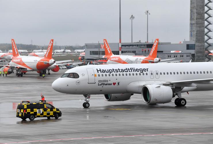 En Airbus A320-200neo fra Lufthansa. Foto: Flughafen Berlin Brandenburg (FBB)