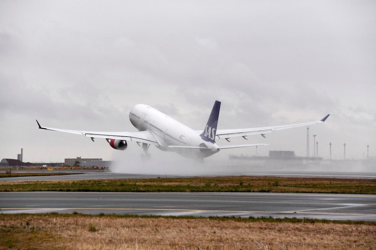SAS Airbus A330 letter fra Københavns Lufthavn. (Foto: Arne V. Petersen | CPH)