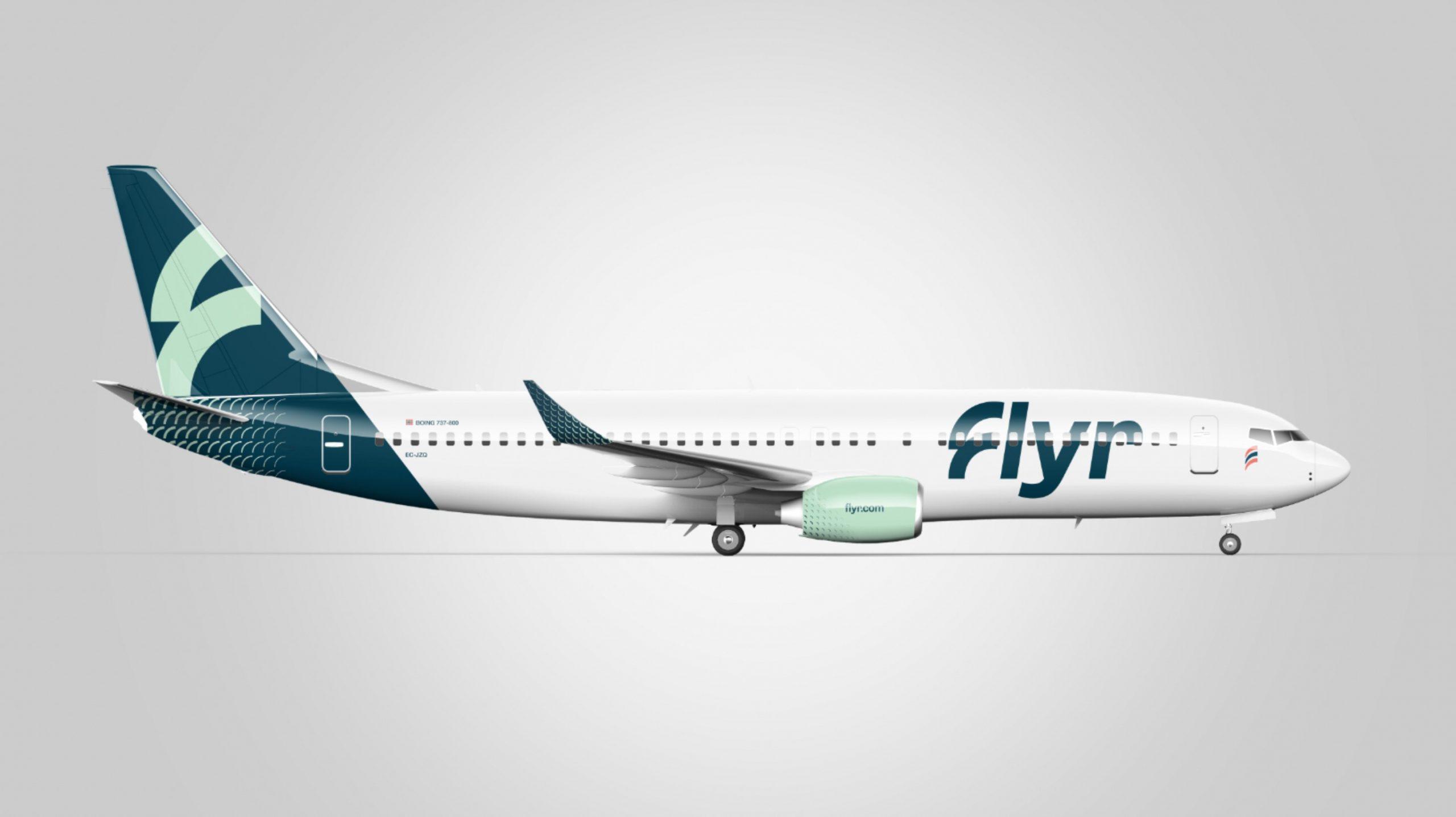 Visualisering af Boeing 737-800 fra Flyr. (Foto: Flyr | PR)
