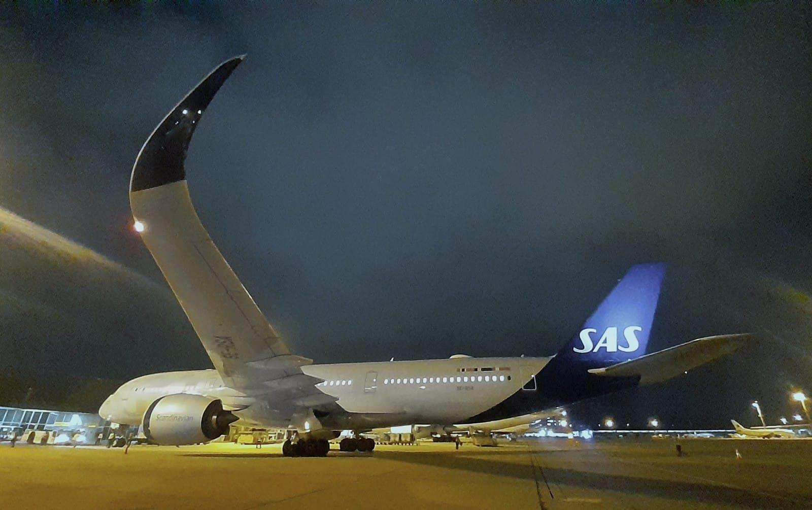 Airbus A350-flyet fra SAS i São Paulo Guarulhos International Airport (Foto: Monica Lamas, GRU)
