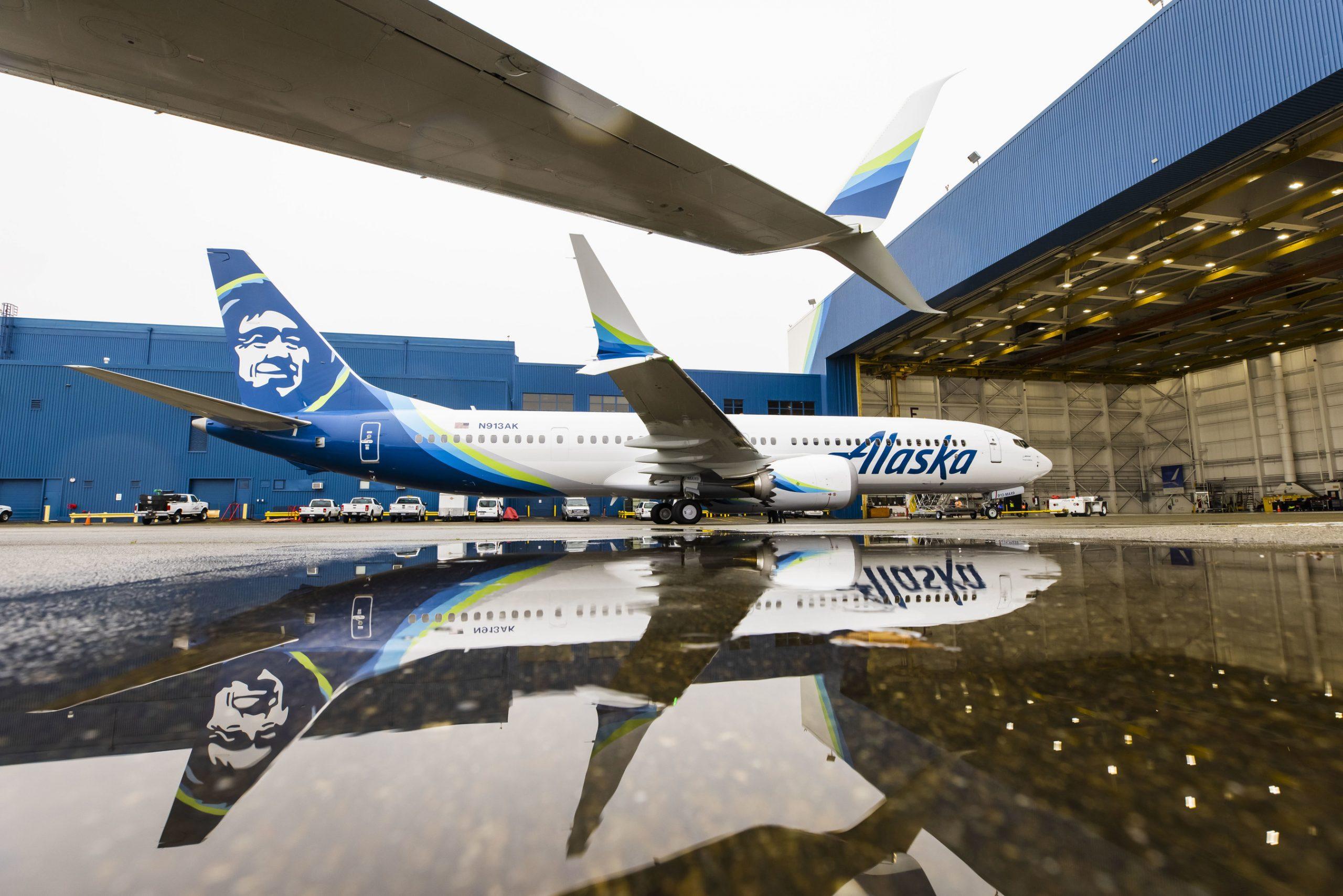Alaska Airlines modtog 24. januar 2021 den første Boeing 737-9 MAX. Foto: Alaska Airlines