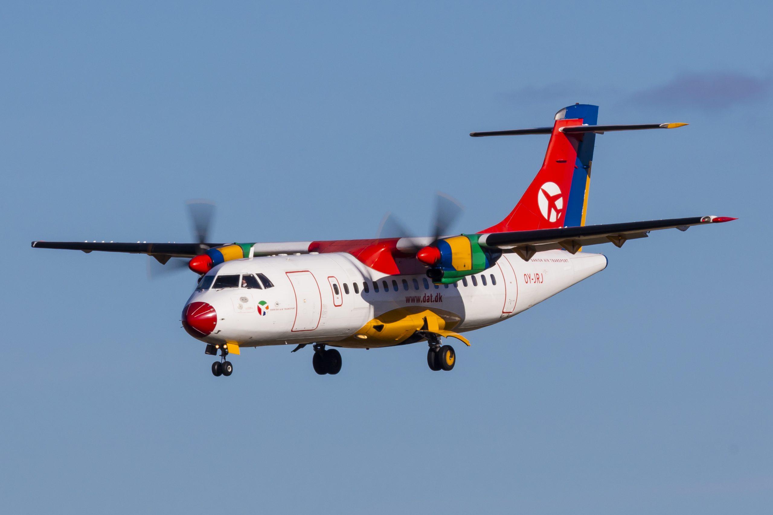 En ATR 42-300 fra DAT. Foto: © Thorbjørn Brunander Sund, Danish Aviation Photo