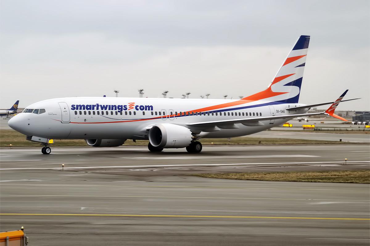 En Boeing 737 MAX 8 fra det tjekkiske flyselskab Smartwings. Foto: Anna Zvereva