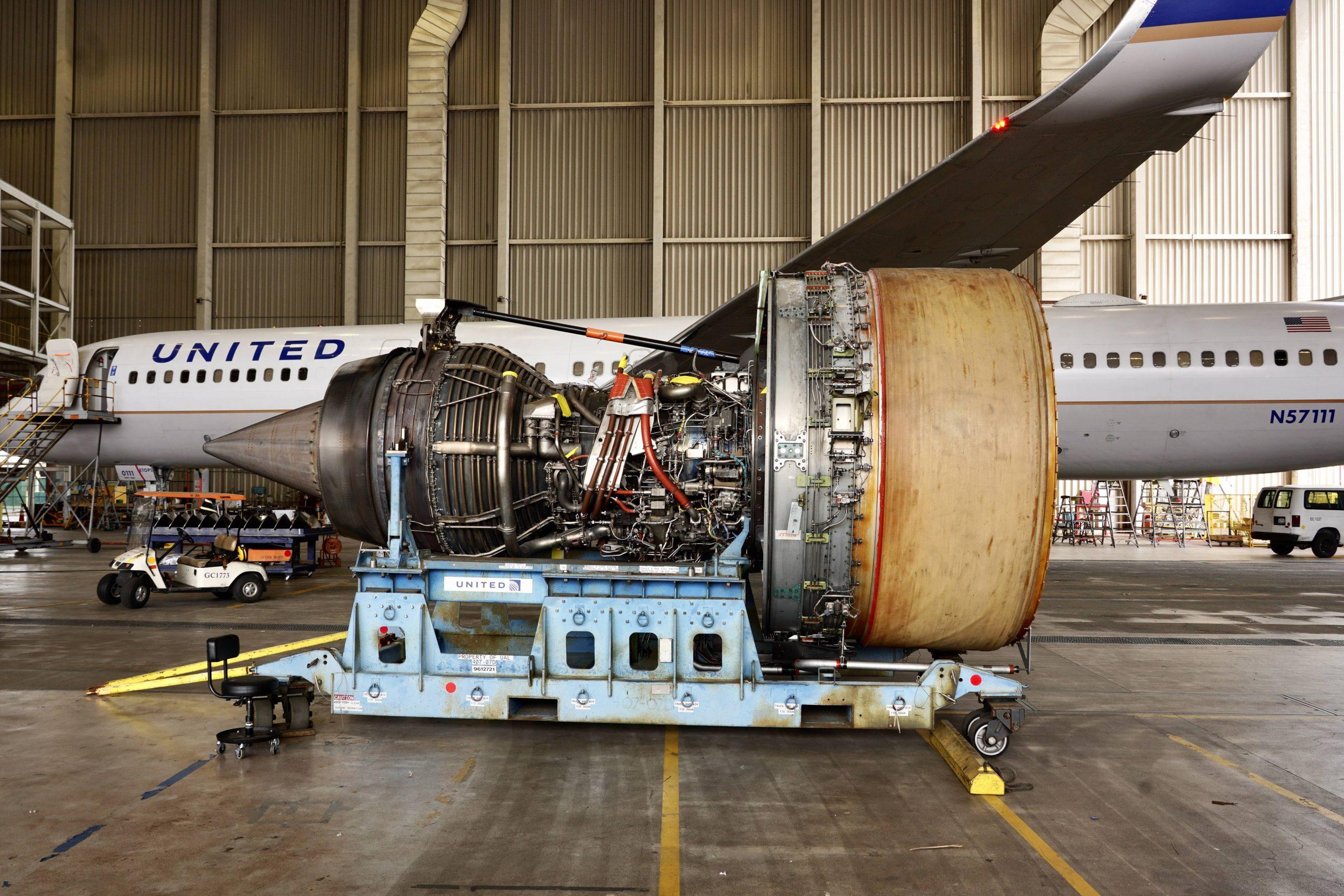 Pratt & Whitney-motor til United-fly. (Foto: 17crossfeed | Imgur)