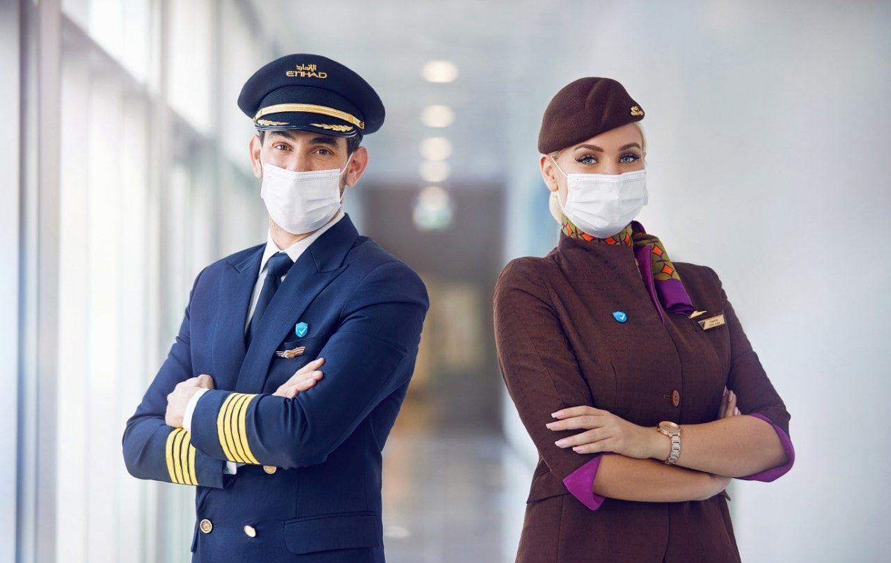 Etihad Airways har vaccineret samtlige piloter og kabineansatte. Foto: Etihad Airways