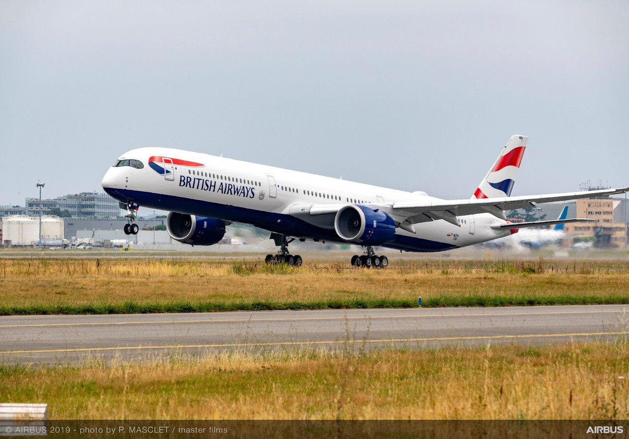 En Airbus A350 fra British Airways. Foto: British Airways