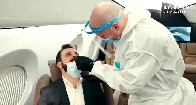 Screenshot fra Blackbird Air-video om det nye test-tilbud.