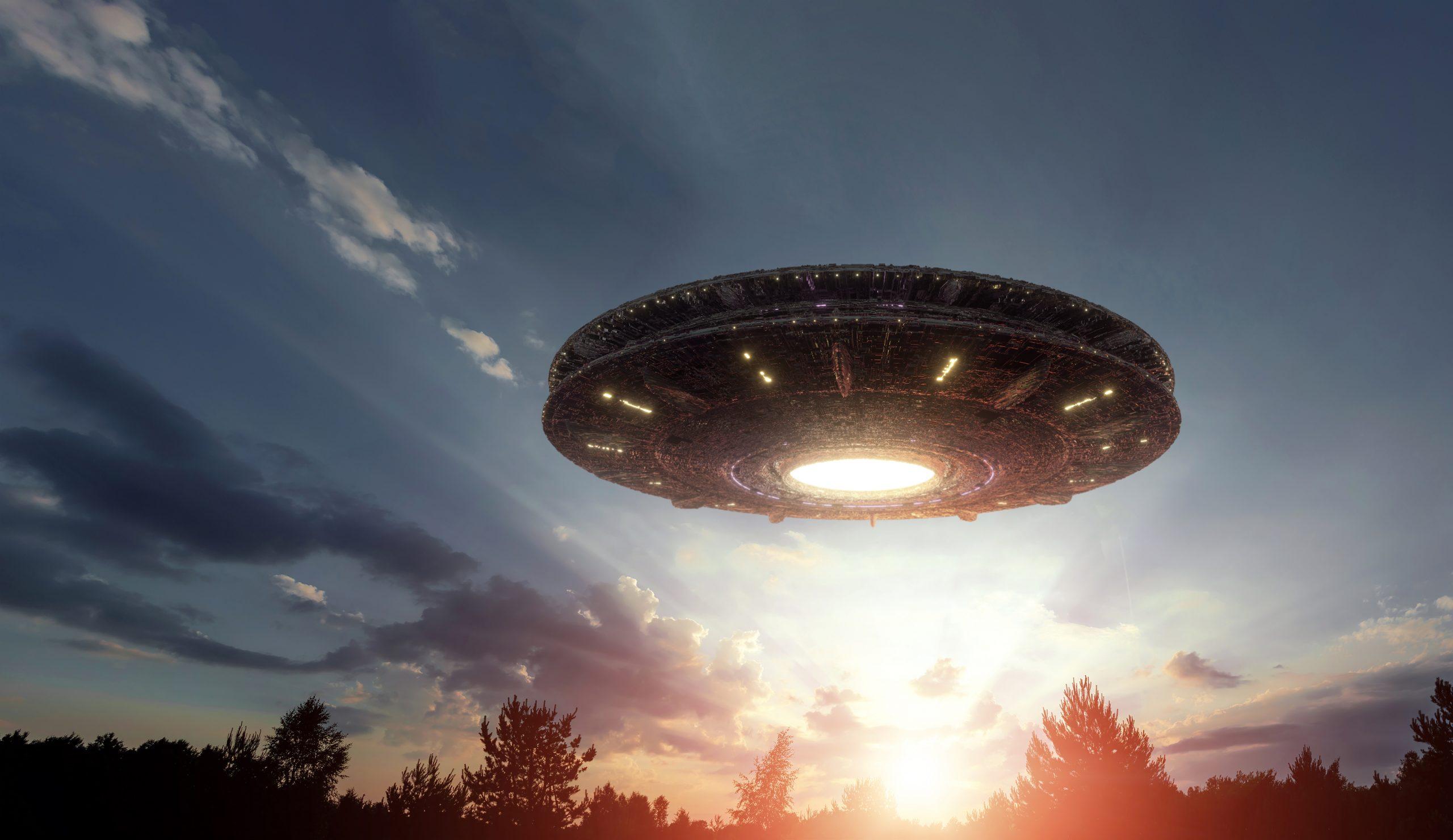 Visualisering af en UFO (Foto: Marko Aliaksandr | shutterstock_1666801681]