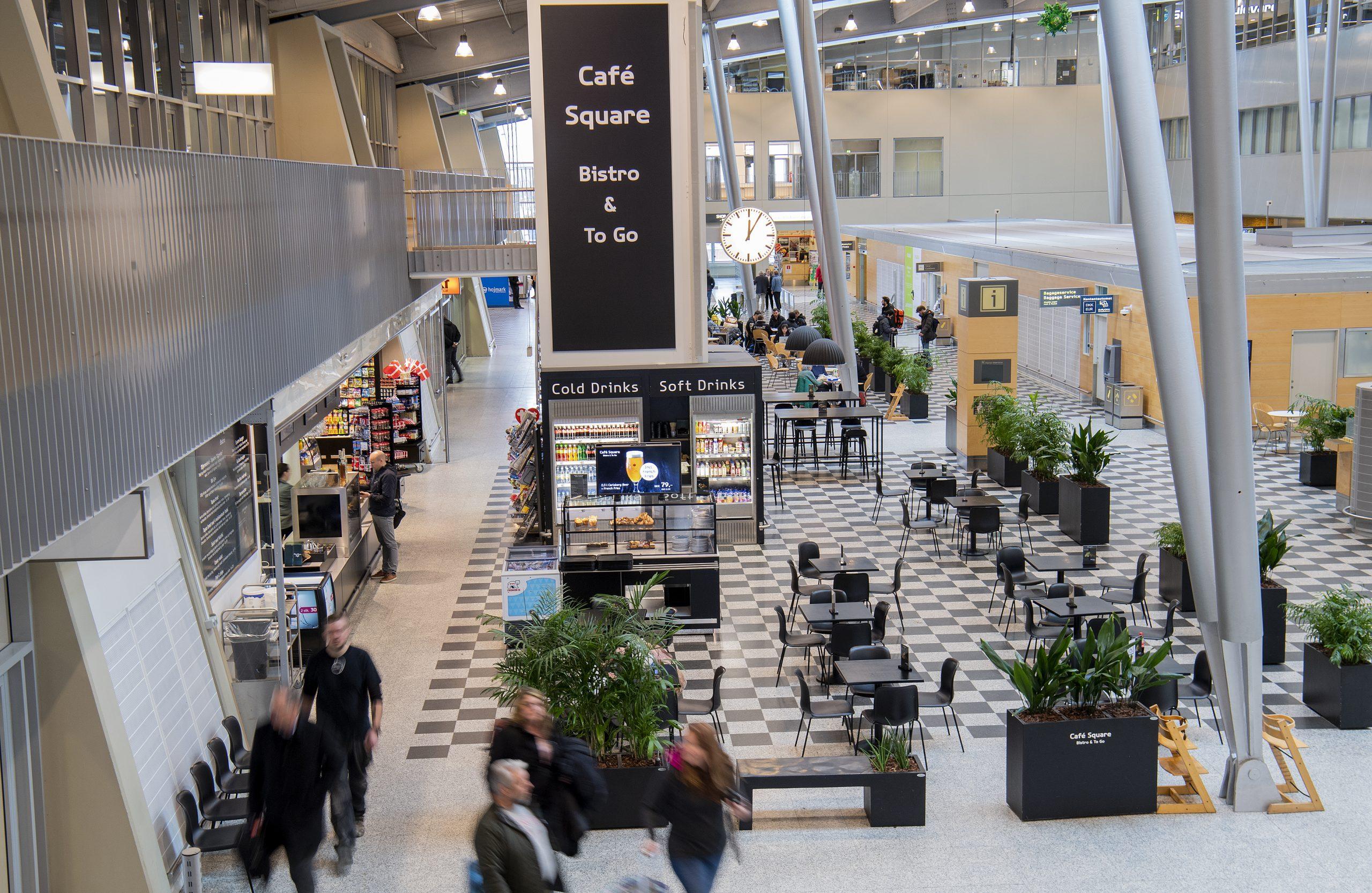 Afgangshallen i Billund Lufthavn. Foto: Billund Lufthavn