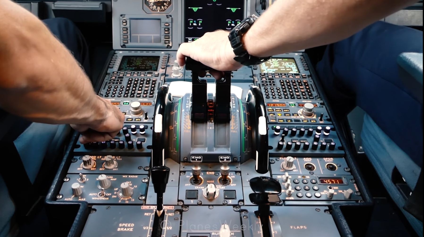 Cockpit i SAS A319 (Foto: Planes Weekly)