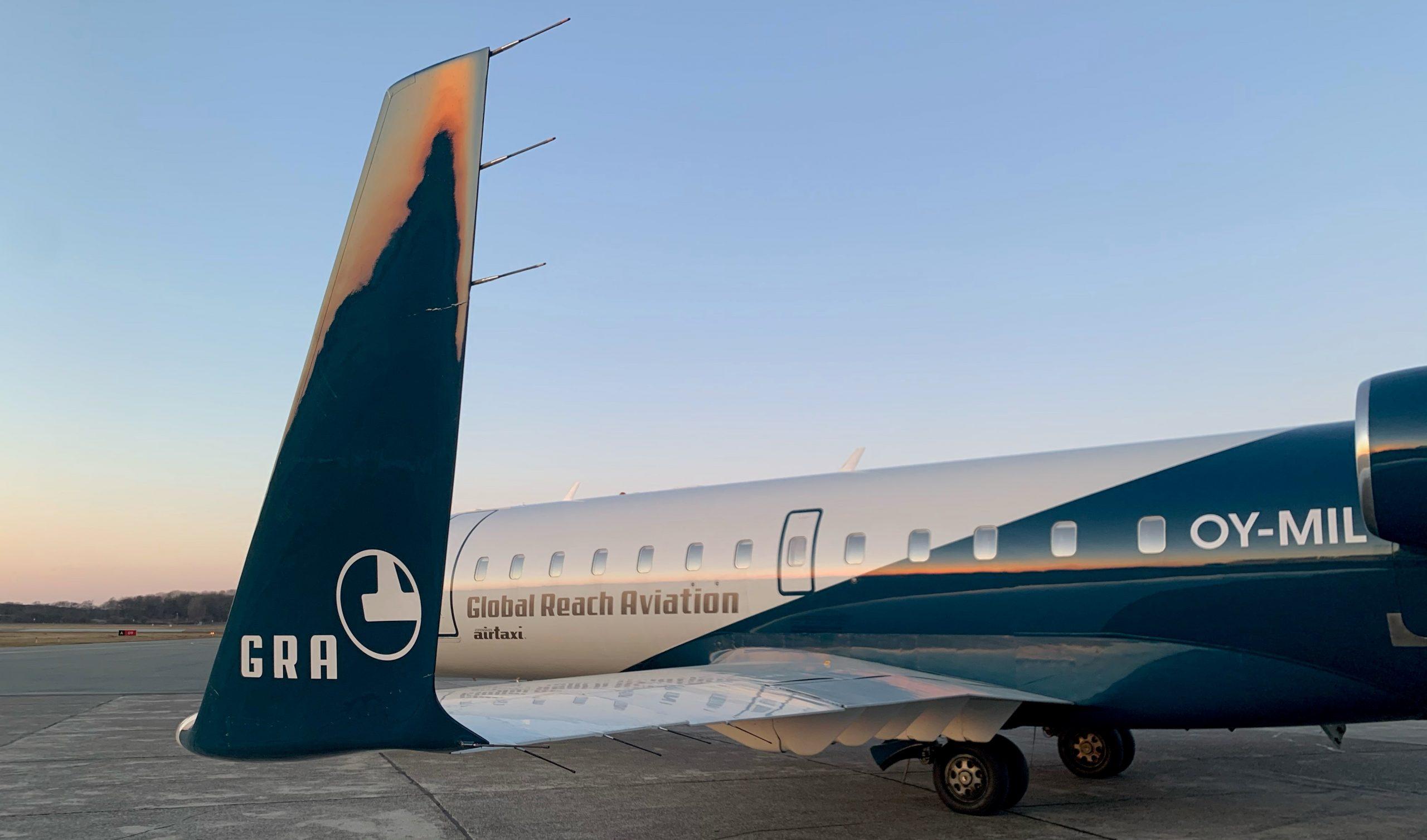 CRJ200 fra Global Reach Aviation. (Foto: GRA)
