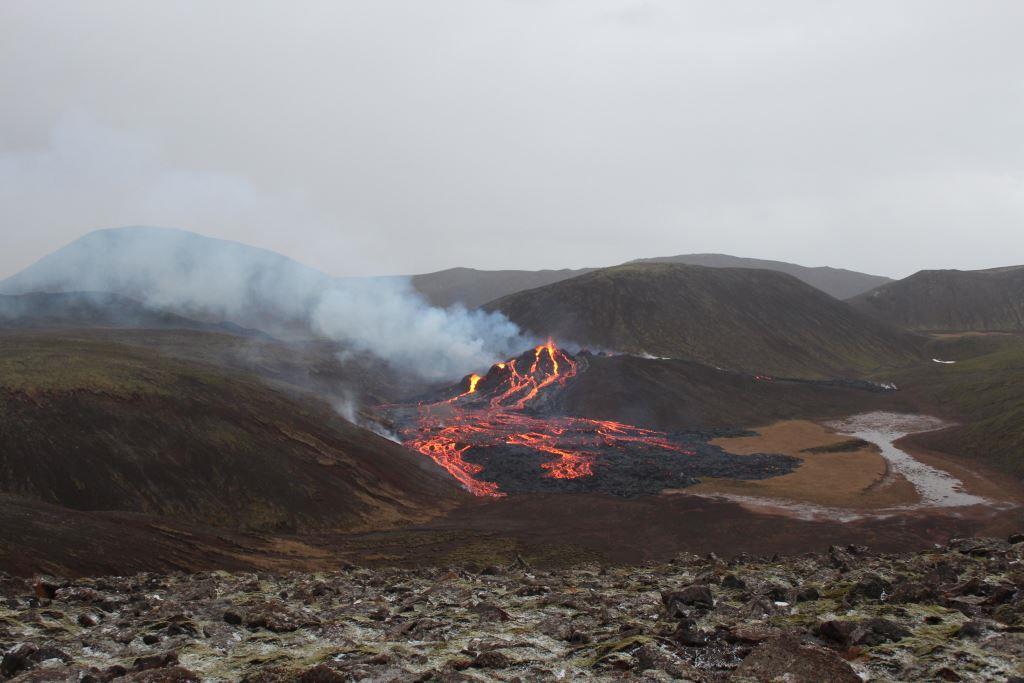 Vulkanudbruddet startede i Geldingadalur nr Fagradalsfjall på Reykjanes-halvøen. (Foto: Iceland Met Office)