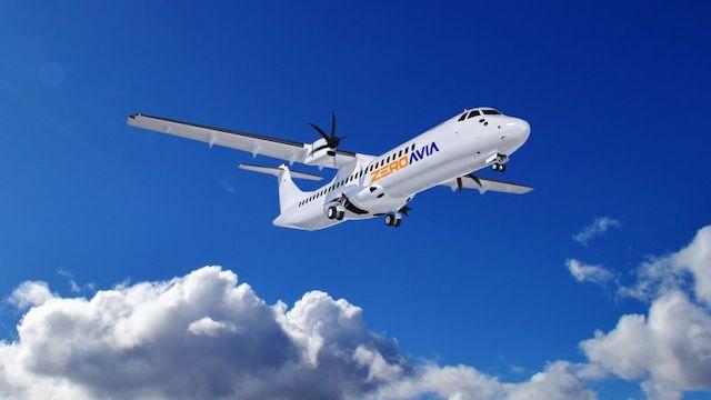 Sådan kunne et brintdrevet fly med over 50 sæder komme til at se ud. Illustration: ZeroAvia