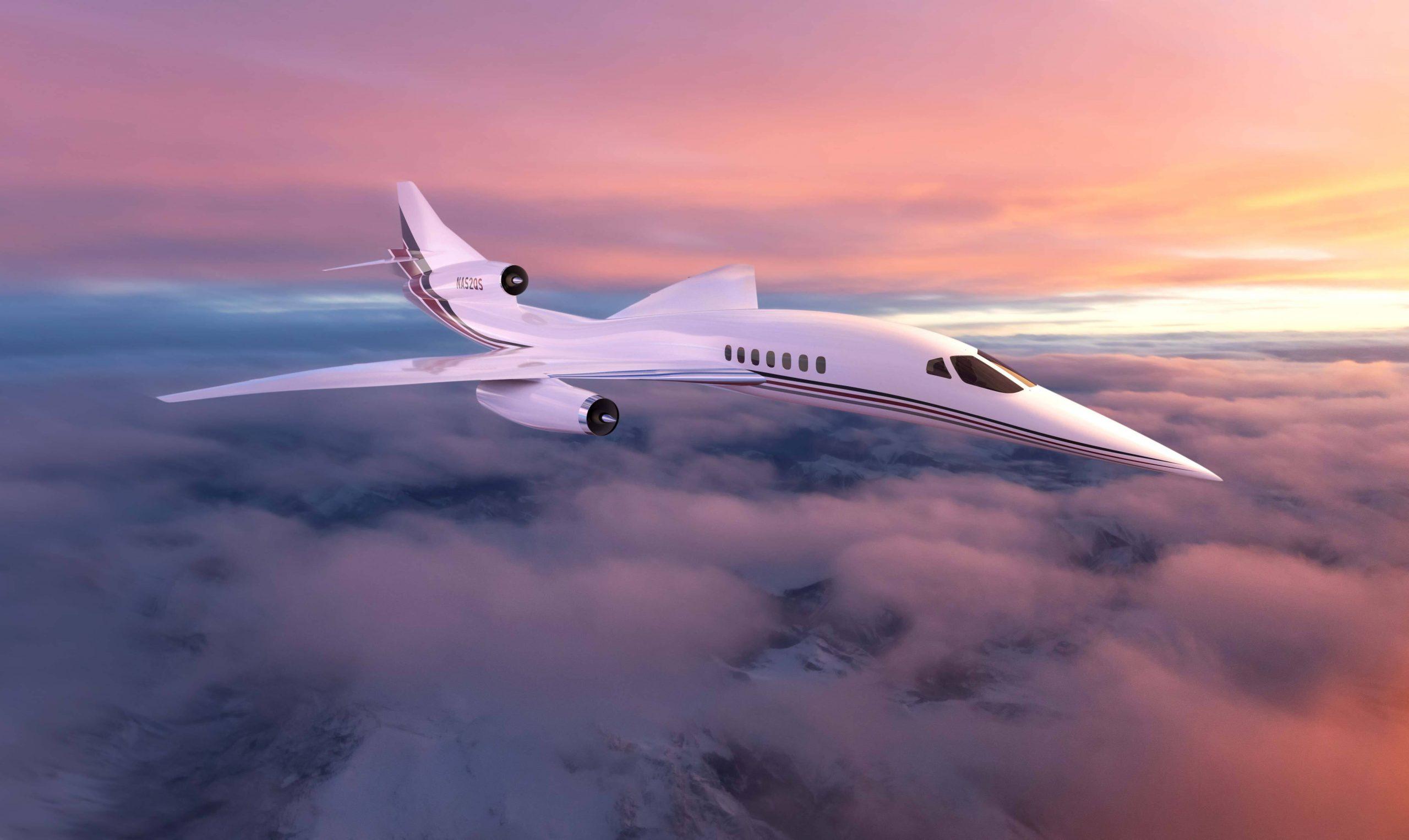 Model af Aerions supersoniske fly AS2. Illustration: Aerion Supersonic