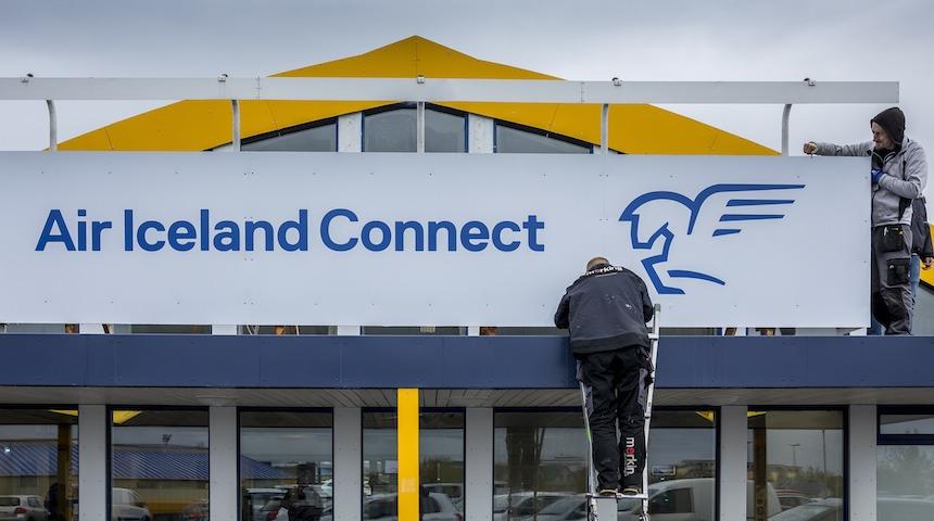 I maj 2017 blev Flugfélag Íslands rebrandet som Air Iceland Connect. Foto: Air Iceland Connect