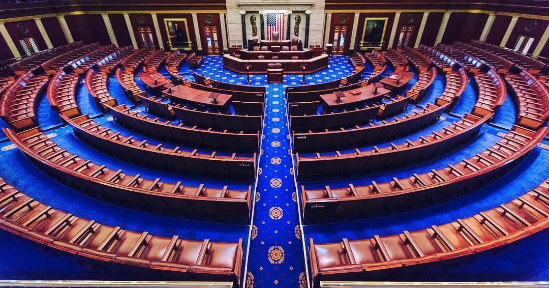 Salen i Repræsentanternes Hus i Washington D.C., USA. Foto: Repræsentanternes Hus