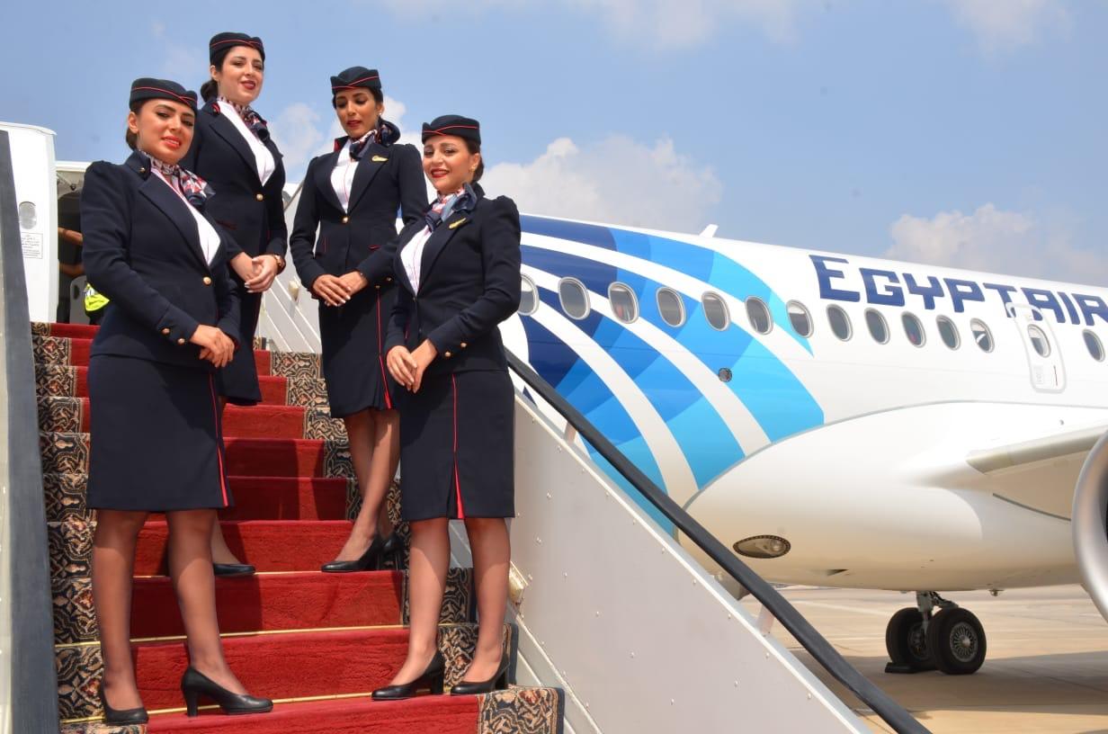 Egyptairs Airbus A220-300 skal flyve fra Aarhus Airport til Egypten. (Foto: Egyptair)