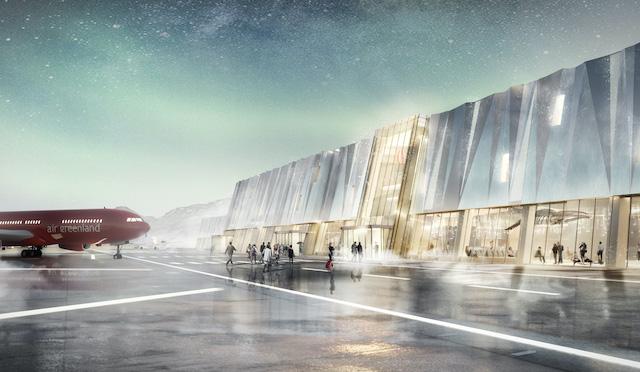 Illustration af den nye lufthavn i Ilulissat. Kilde: KAIR