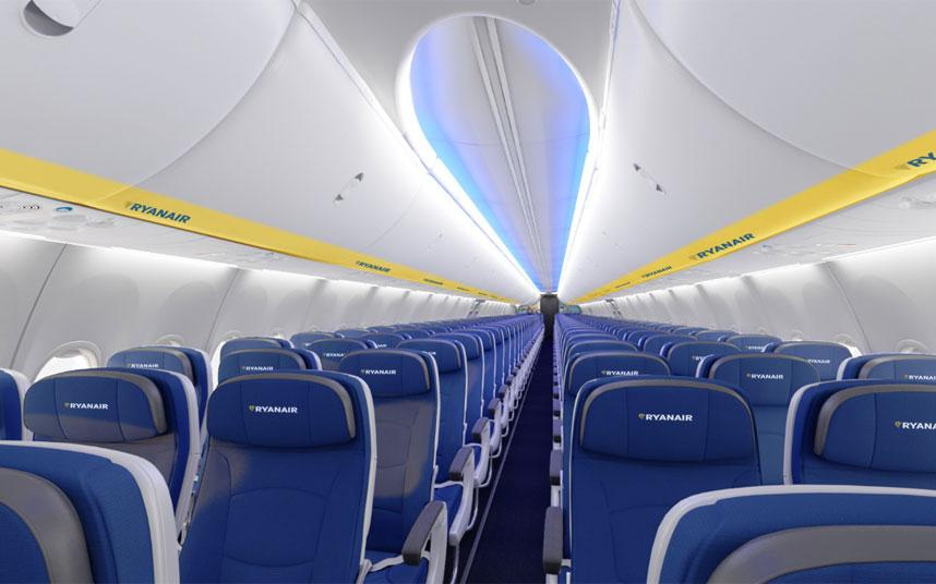 Der bliver plads til 197 passagerer i de nye Boeing 737 MAX-8200 fra Ryanair. (Arkivfoto: Ryanair)