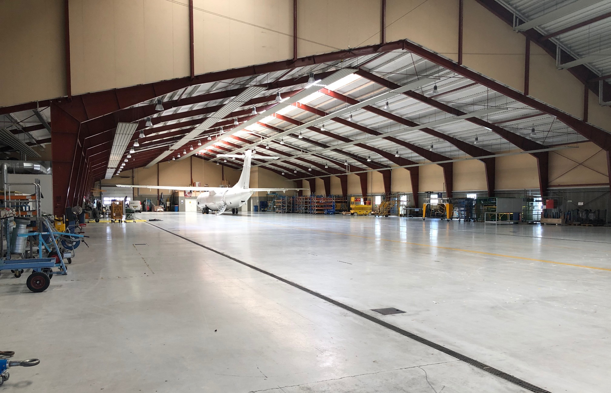 Skyways Technics' hangar i Billund Lufthavn. (Foto: Billund Lufthavn)