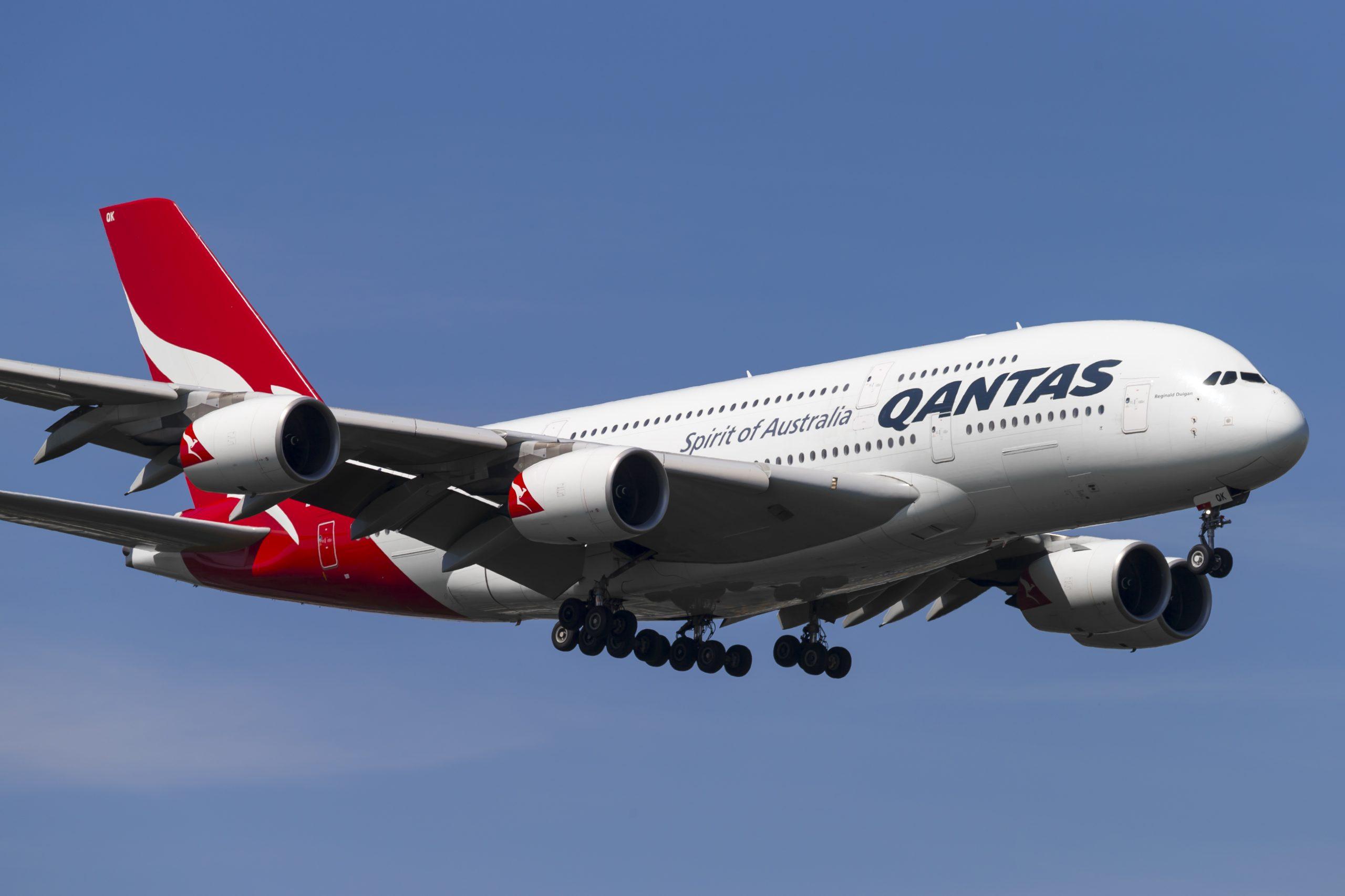 En Airbus A380-800 fra det australske flyselskab Qantas. Foto: © Thorbjørn Brunander Sund, Danish Aviation Photo