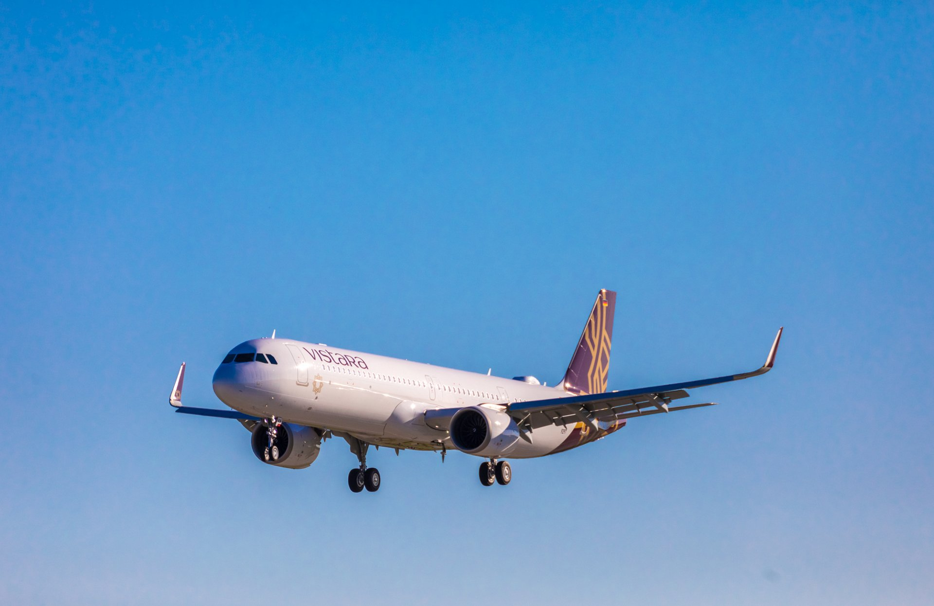 Airbus A321neo fra indiske Vistara. (Foto: Airbus)
