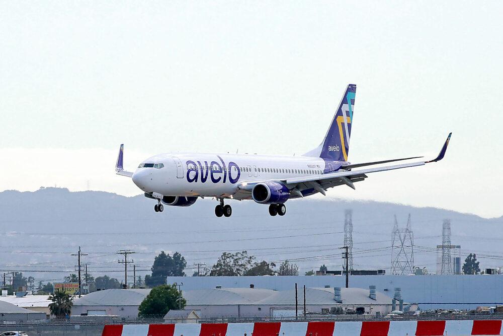 En Boeing 737-800 fra det nye amerikanske lavprisflyselskab Avelo Airlines. Foto: Joe Scarnici/Getty Images for Avelo