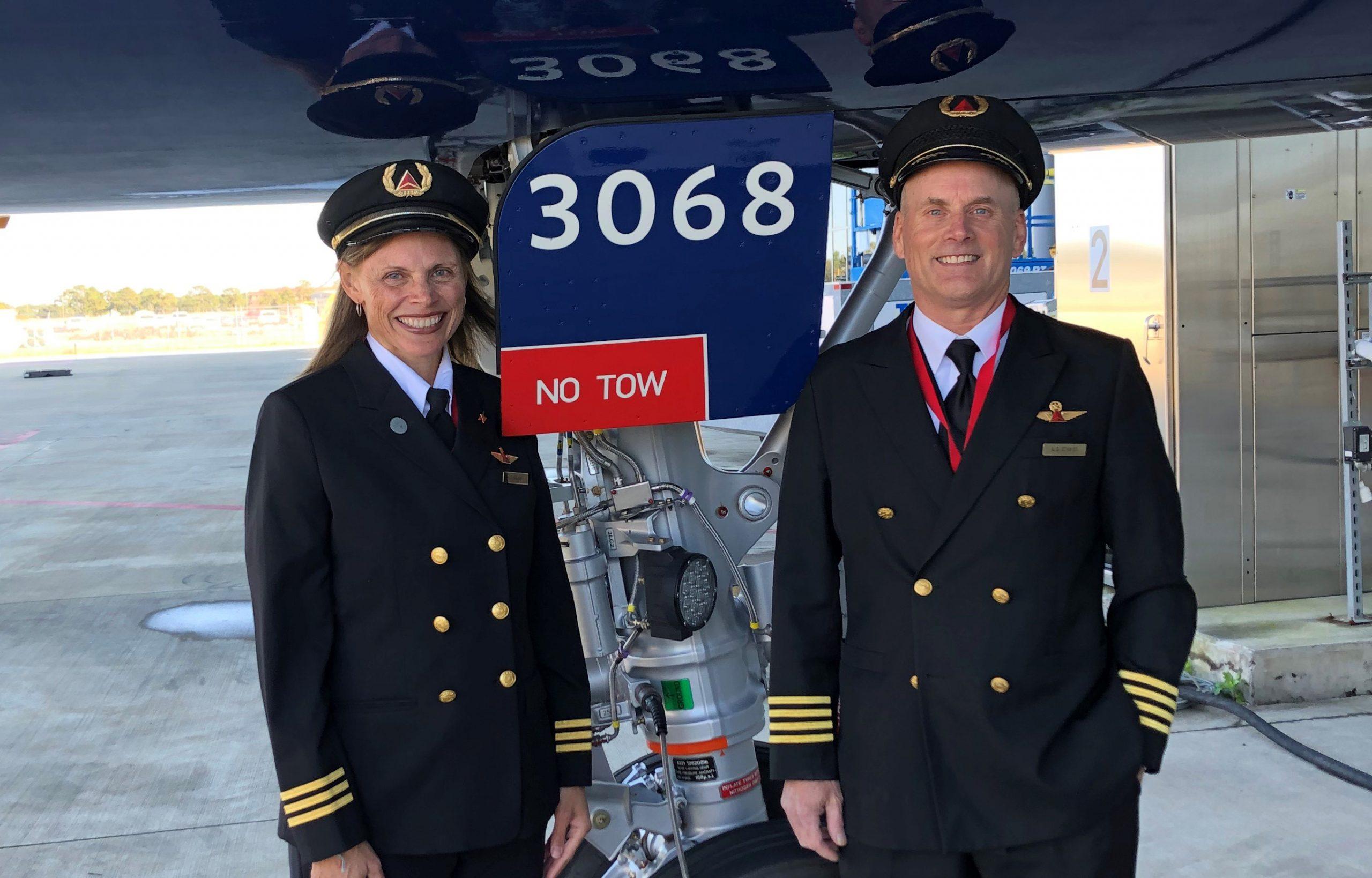 De to piloter har ikke noget med den aktuelle sag at gøre. Foto: Delta Air Lines
