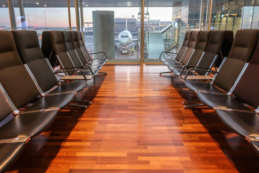 Venteområde i Stockholm Arlanda Airport. (Foto: B. Forenius)