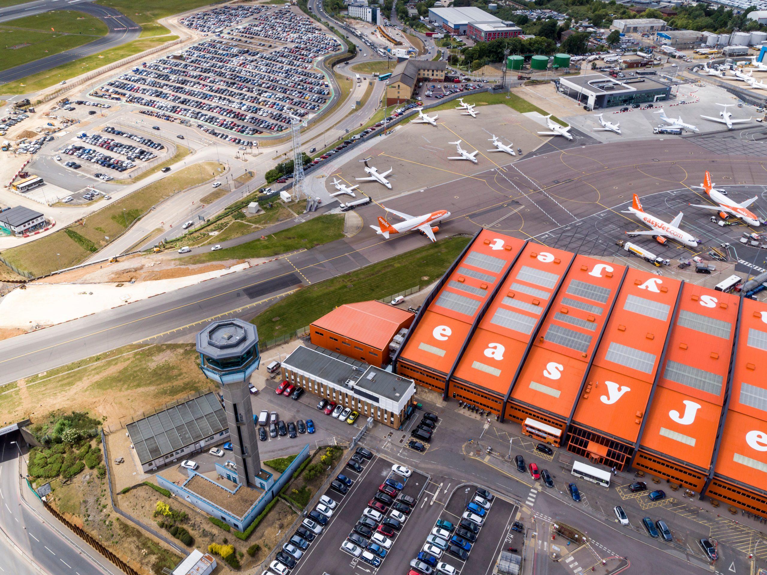 EasyJets hovedbase i London Luton Airport. (Captain_Kangaroo)
