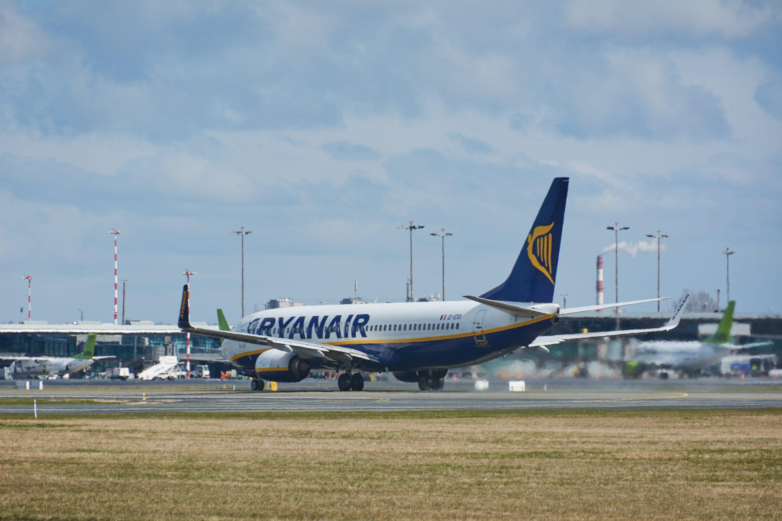 Ryanair Boeing 737-800 i Riga Airport. (Foto: Satephoto)