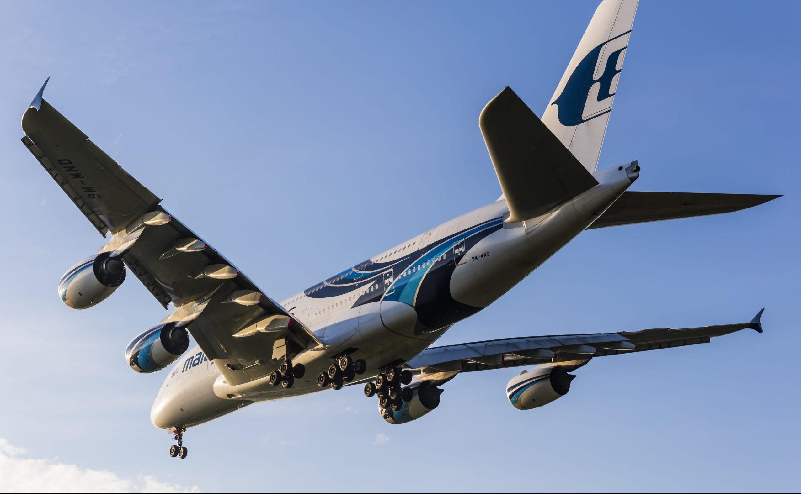 En Airbus A380-800 fra Malaysia Airlines. Foto: © Thorbjørn Brunander Sund, Danish Aviation Photo
