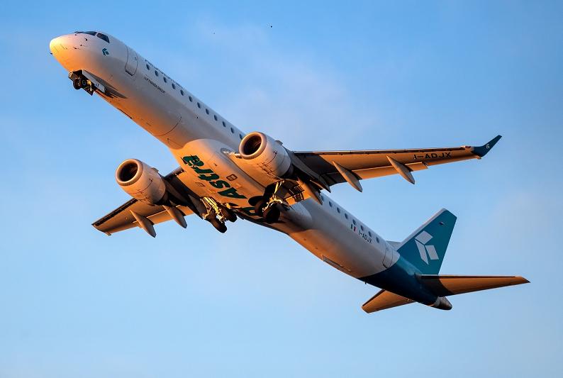 Embraer ERJ195LR fra Air Dolomiti. (Foto: Air Dolomiti – Fabrizio Berni – PSC)
