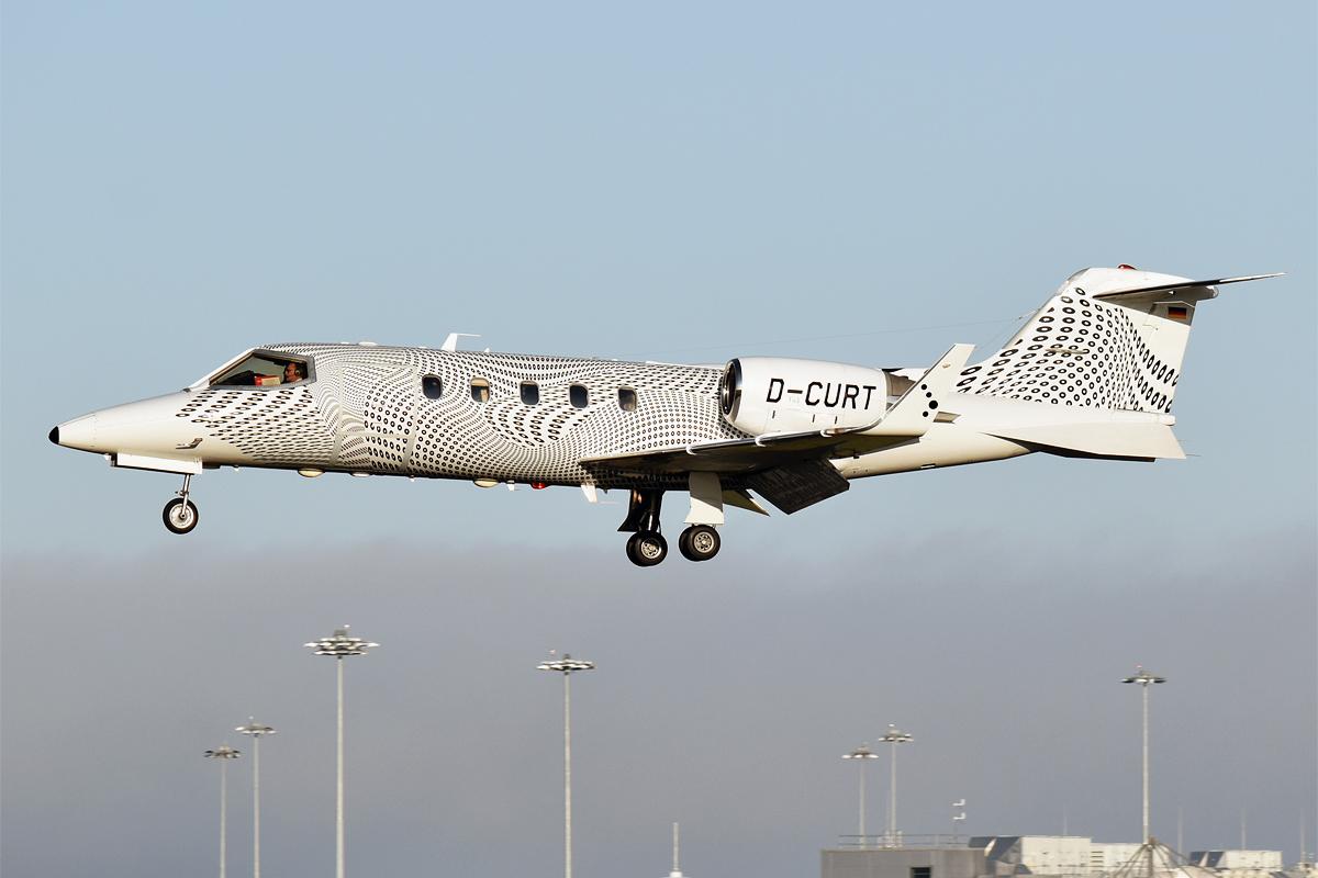 En Bombardier Learjet 31A fra et tysk flyselskab. Flyet har ikke noget med den konkrete sag at gøre. Foto: Anna Zvereva, CC 2.0