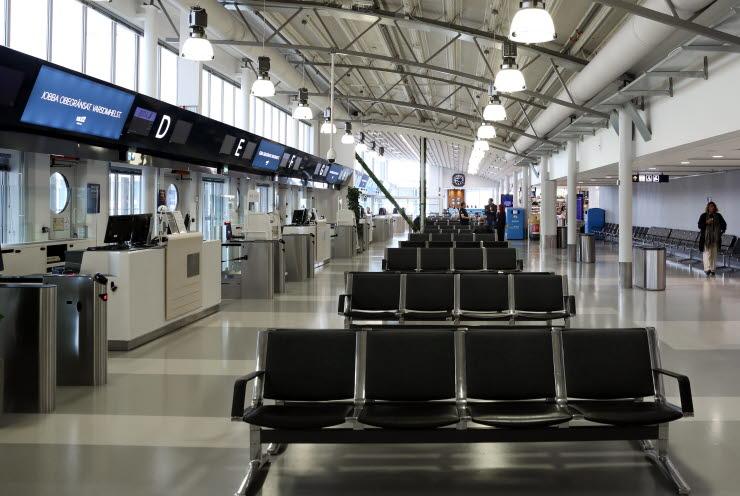 Afgangshallen i Bromma Stockholm Airport (Swedavia | PR)