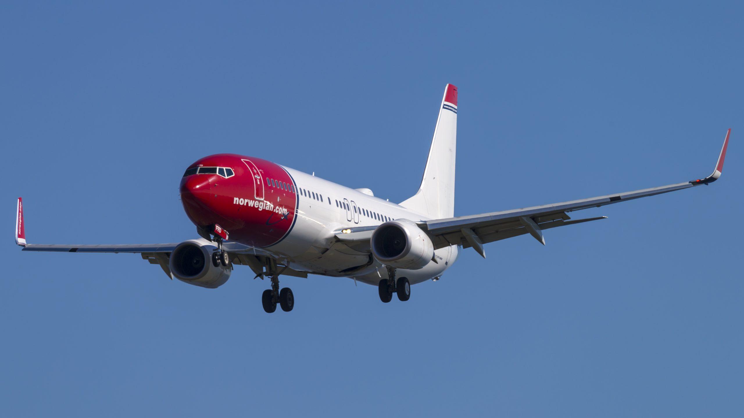 Boeing 737-800 fra Norwegian under landing i Københavns Lufthavn. (Foto: © Thorbjørn Brunander Sund | Danish Aviation Photo)