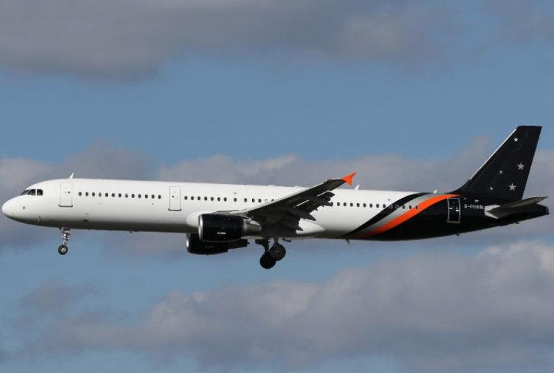 En Airbus A321-200 fra det britiske charterflyselskab Titan Airways. Foto: Titan Airways