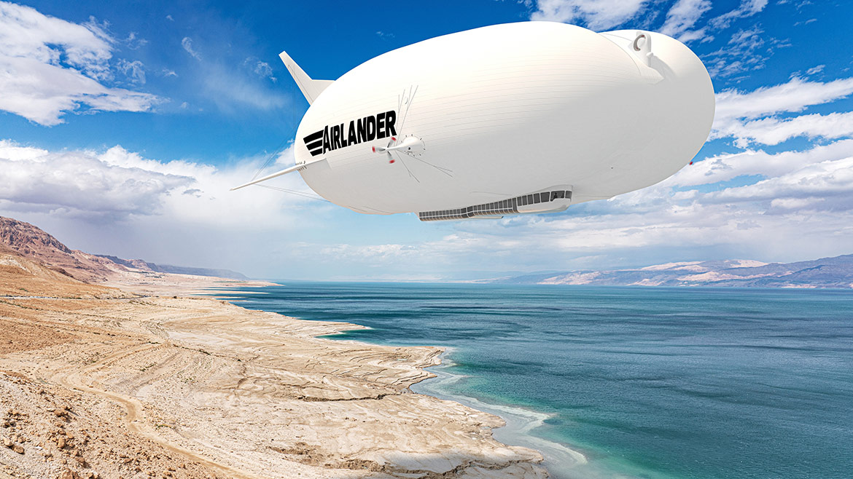 En Airlander i luften. (Foto: Hybrid Air Vehicles)