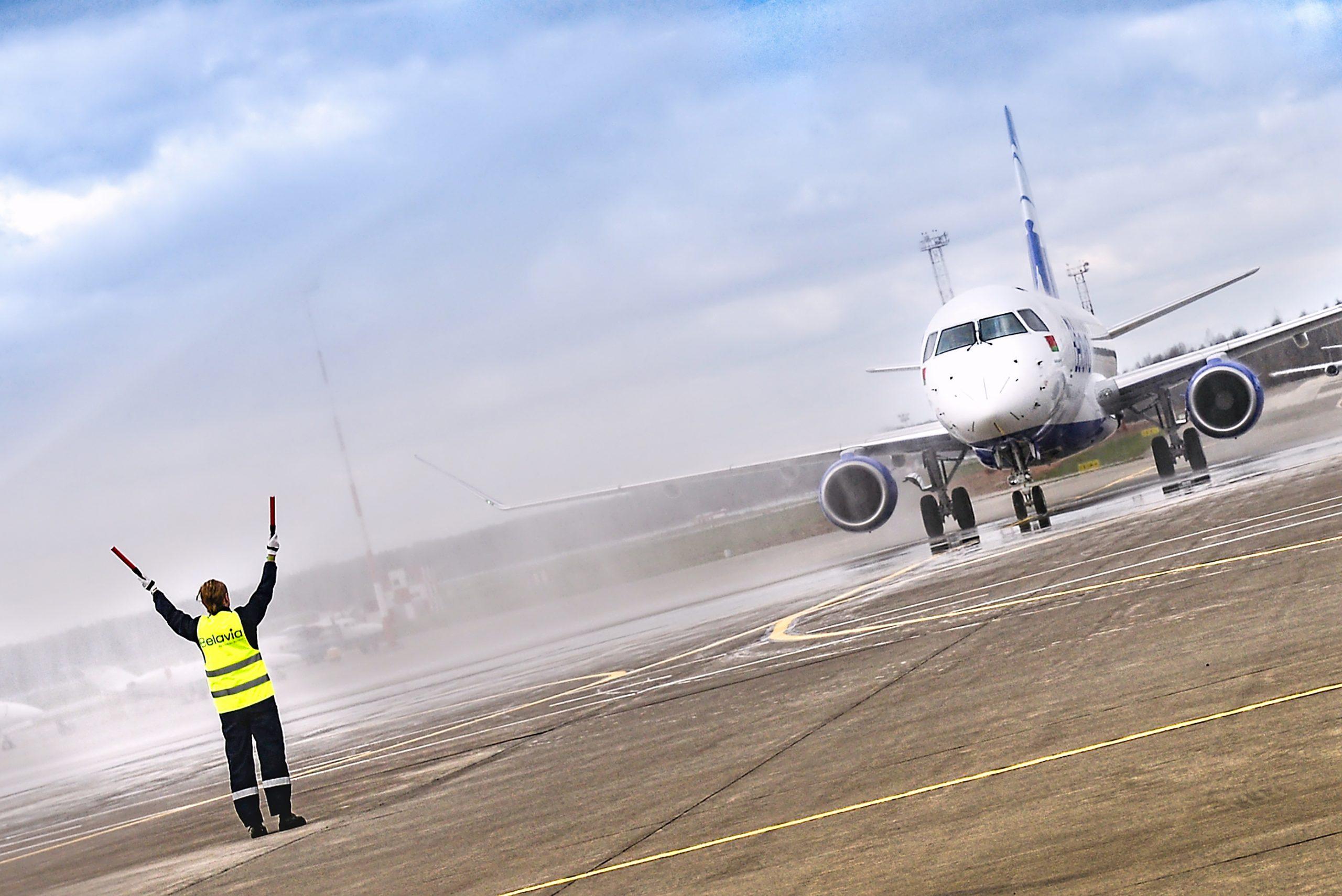 Fly fra det hviderussiske selskab Belavia. Foto: Belavia