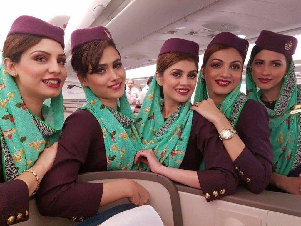 Stewardesser fra Pakistan International Airlines – PIA. (Arkivfoto: PIA | Facebook)